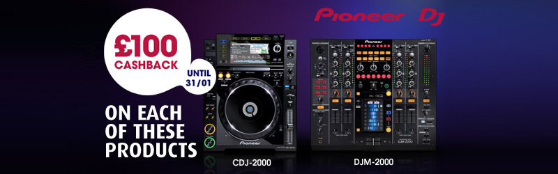 Pioneer DJ UK Cashback Promotion